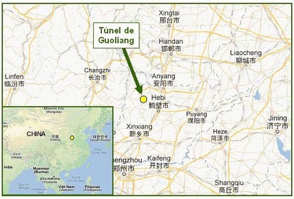 Túnel de Guoliang - localização geográfica
