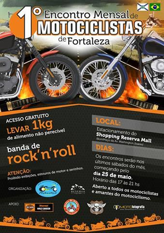 Encontro reuniu 300 motociclistas e vários triciclistas.