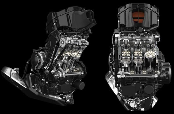 O novo motor tem diâmetro e curso mais superquadrado, o câmbio teve as duas primeiras marchas modificadas e o som inconfundivel dos 3 cilindros
