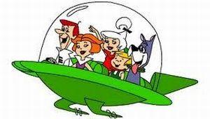 No desenho animado Os Jetsons (de 1962), a famíla se desloca em em veículo dotado de sistema anti-gravitacional, impulsionado por pequenas turbinas