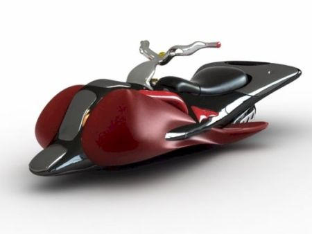 Projeto de uma moto aérea já elaborado, apenas aguardando a descoberta de algum sistema anti-gravitacional