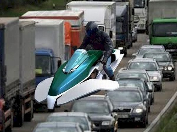 O sonho de pilotar uma moto aérea talvez esteja muito próximo de ser realizado