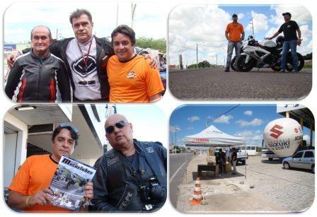 Organização e segurança foram o tom do receptivo. Acima a esquerda, no centro, Bozoka, primeiro homem a pilotar uma moto na Antártica. Abaixo à esquerda: Maia, editor da maior revista dedicada a eventos de motoclubes no Nordeste