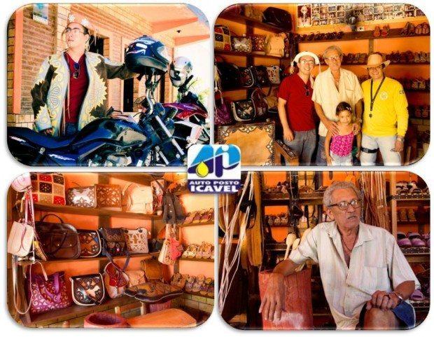 Espedito Seleiro – Mais de 60 anos dedicados a arte em couro. No alto à esquerda JAN vestindo o gibão e transformando-se no VAQUEIRO MESSIAS!