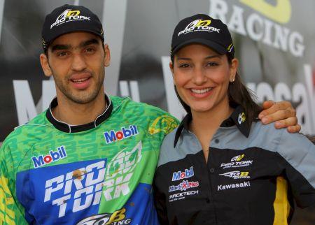 Mariana com seu irmão Antonio Jorge Balbi Júnior