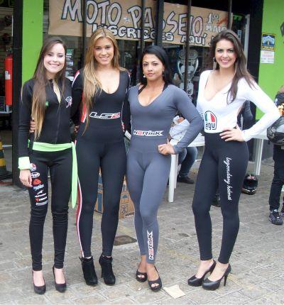 Algumas marcas de produtos para motos e motociclistas estavam muito bem representadas