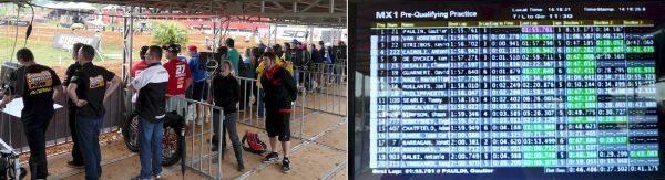 Cada equipe tinha seu box de pista individual com um monitor que informava instantaneamente a posição dos seus pilotos na pista