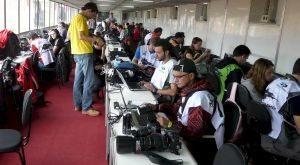 Jornalistas e fotógrafos de várias procedências fizeram a cobertura da competição