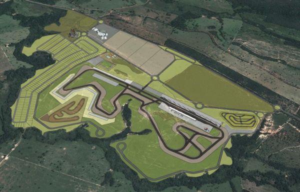 Projeto do Autódromo Internacional de Curvelo; 4.7 km com 16 metros de largura