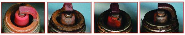 Resíduos de cor avermelhada nas velas evidencia a presença de óxido de ferro no combustível