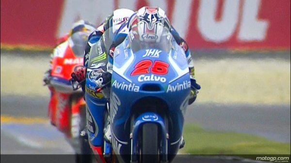 Maverick Viñales venceu a corrida de Moto3™ deste do Monster Energy Grande Prémio de França deste domingo depois de partir da pole, tornando-se assim no primeiro piloto a somar duas vitórias na época de 2013. O piloto do Team Calvo levou a melhor sobre Alex Rins e Luis Salom.