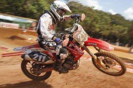 Paulo Alberto, piloto da Equipe Honda Mobil na categoria MX2 do Campeonato Brasileiro de Motocross 2013