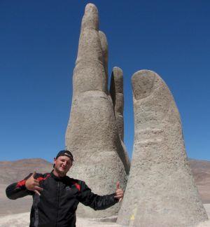 Deonir Marcos Bartnik em La Mano de Desierto - Chile
