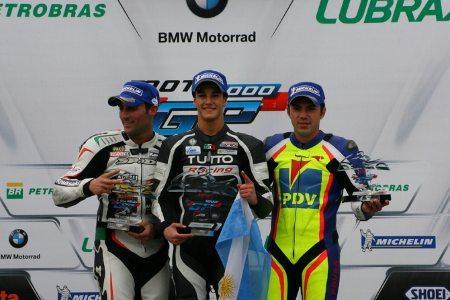 Pierluigi, Ribodino e Gutierrez fizeram o pódio da GP 1000 em Interlagos
