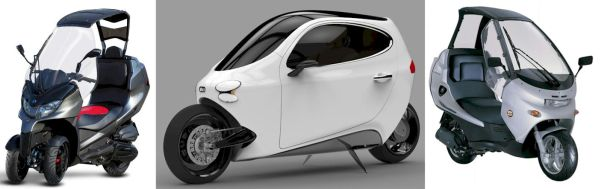 Piaggio AD3, C-1 da Lit Motors e o Benelli Adiva, três conceitos dentro da mesma idéia