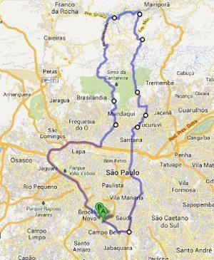 Roteiro do passeio: 112 km, com boa parte de estradinha com subidas e muitas curvas