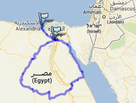 Trajeto de 2400 km pelo interior do Egito