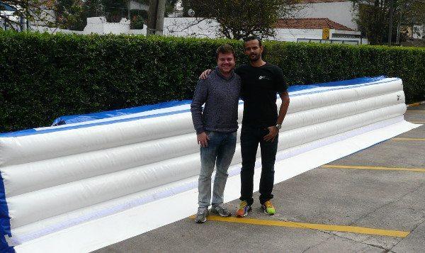 Cayto Trivellato e Léo Pereira, sócios na empreitada, apostam na segurança dos pilotos como fórmula para o sucesso