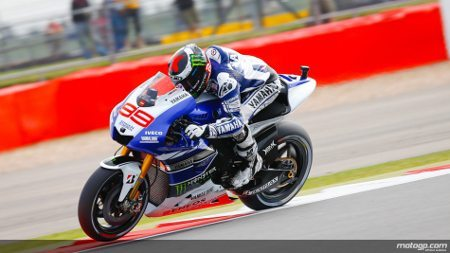 Jorge Lorenzo da Yamaha Factory Racing em Silverstone