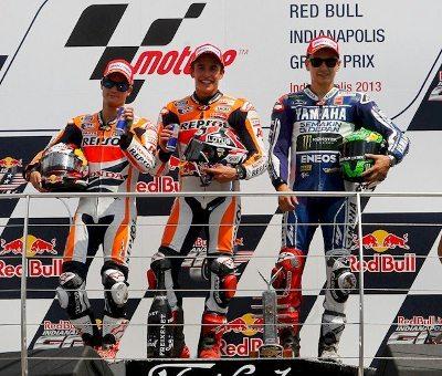 Pedrosa, Marquez, Lorenzo (e Rossi) fizeram uma prova eletrizante em Indianápolis