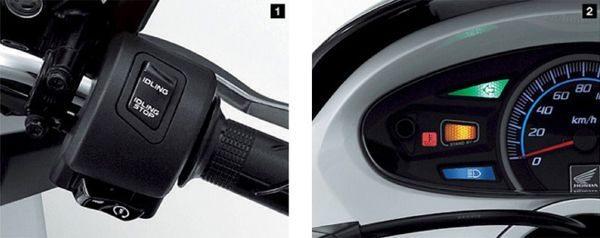 Sistema único instalado no PCX desliga o motor ao se parar por mais de três segundos. Para sair novamente, ao acelerar, o motor liga automaticamente