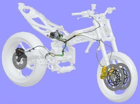 Sistema ABS fabricado pela Nissin