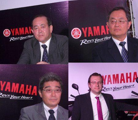 No sentido horário, a partir do alto a esquerda: Hayakawa, Kobayashi, Hegenberg e Ichii; discurso afinado e promessa de uma nova Yamaha
