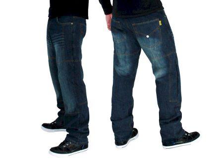 Calça jeans com proteção em kevlar