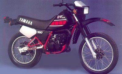Yamaha DT 180, a primeira moto de Sabrina Katana aos 13 anos - foto de divulgação do fabricante