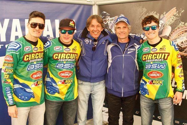 Anderson Cidade, Rafael Faria, Cacau, Michele Rinaldi e Hector Assunção formam a equipe brasileira no Motocross das Nações 2013