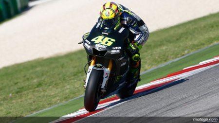 Valentino Rossi no teste da Yamaha Factory Racing em Misano