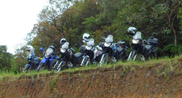 As motos, quatro Ténéré 250, uma XT 660 e uma Ténéré 660