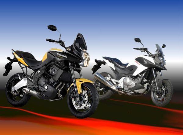 Duas motos com a mesma proposta com abordagens diferentes atendem ao mesmo tipo de consumidor