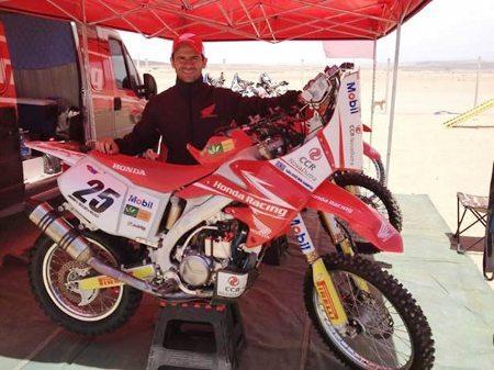 Jean Azevedo com a Honda CRF 450 Rally - crédito: divulgação NovaDutra