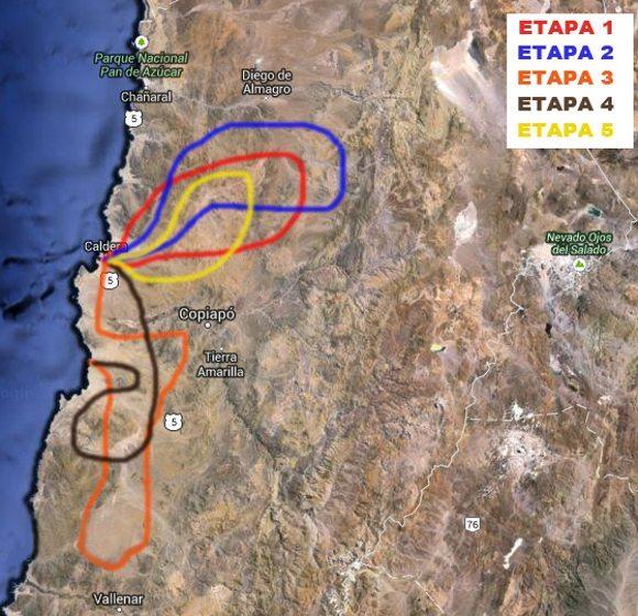 Mapa da competição