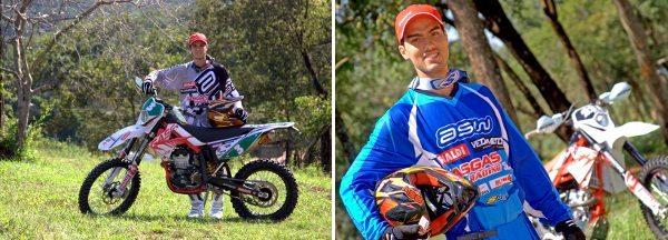 Rômulo Bottrel e Rigor Rico, campeões nacionais de Enduro FIM em 2013