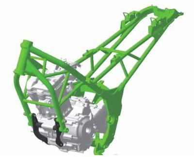 O motor é parte estrutural do chassi