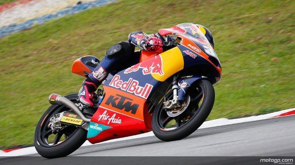 Luis Salom da Red Bull KTM Ajo, vencedor em Sepang