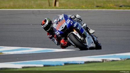 Jorge Lorenzo da Yamaha Factory Racing em Phillip Island
