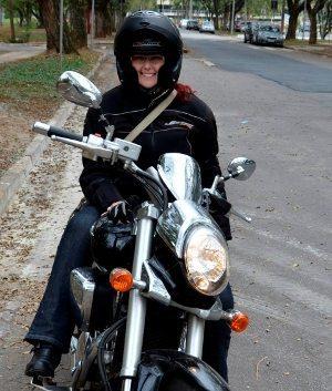 Priscila e seu grande desafio: pilotar uma Boulevard
