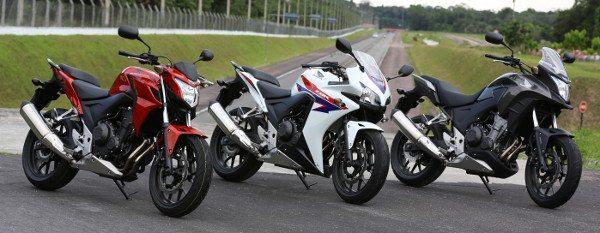 CB 500F, CBR 500R e CB 500X: meta de 20 mil motos nos primeiros 12 meses