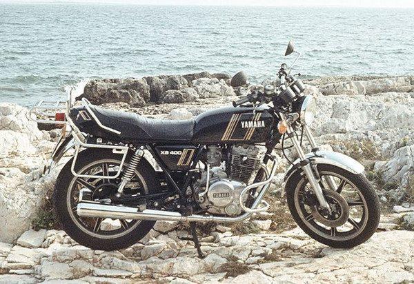 Yamaha XS 400, primeira moto que pilotou, ainda em Manaus