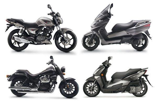 """Dois scooters e uma custom com motor de 2 cilindros em """"V"""" com 250 cc também estão no line up da Keeway"""