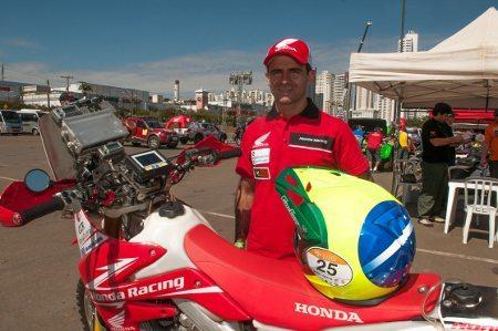 Jean Azevedo, piloto da equipe Honda Racing de Rally