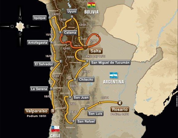 Roteiro do Rally Dakar 2014