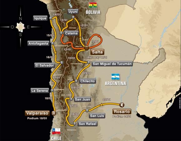 Roteiro do Rally Dakar 2014