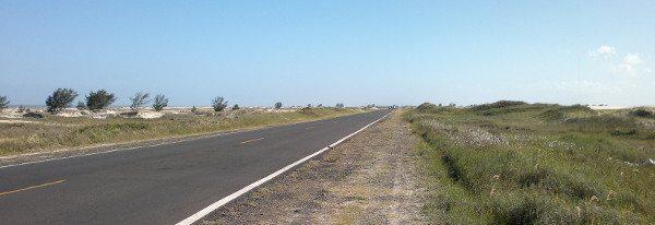 RS 786 entre Cidreira e Tramandaí; caminho de todos os dias