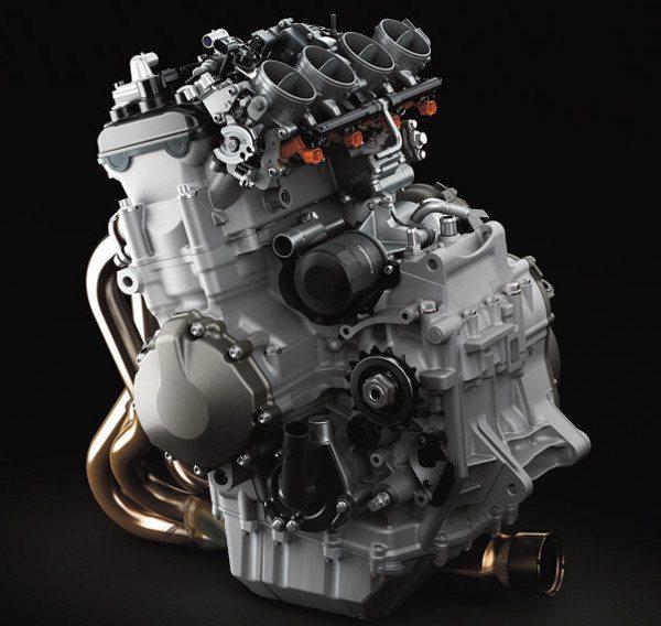 Motor da Kawasaki 636: distribuição inteligente dos componentes faz um motor compacto com quatro cilindros