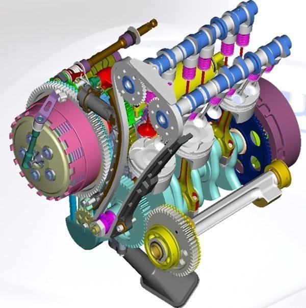 Motor três cilindros Triumph ganha em compactação e custo, por ter menos peças