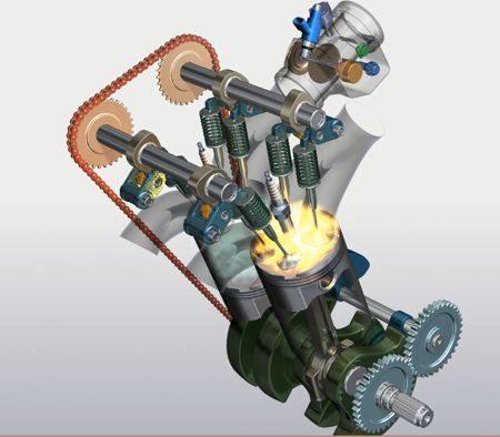 O motor da CB500 tem os eixos do virabrequim separados em 180 graus para melhorar o torque